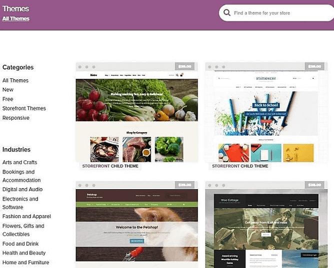 Temas WooCommerce e Web Design