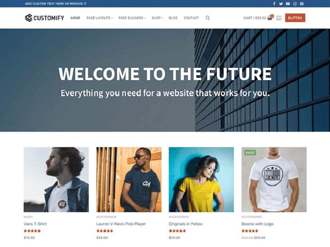tema customify wordpress