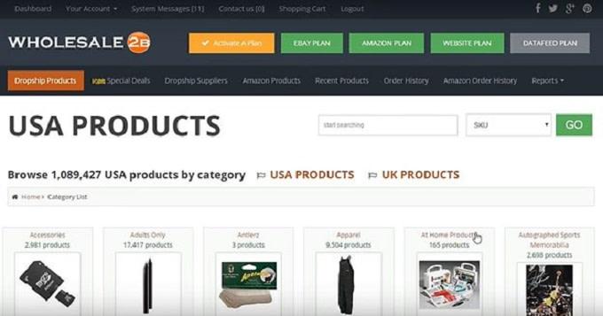 Pesquisa de produtos no wholesale2b