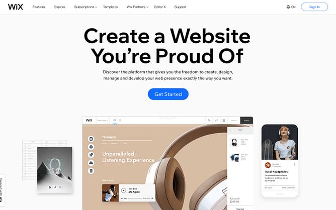 site do wix