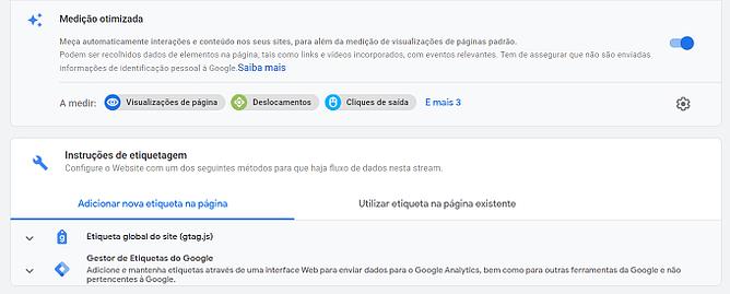 adicionar tag na página no google analytics 4