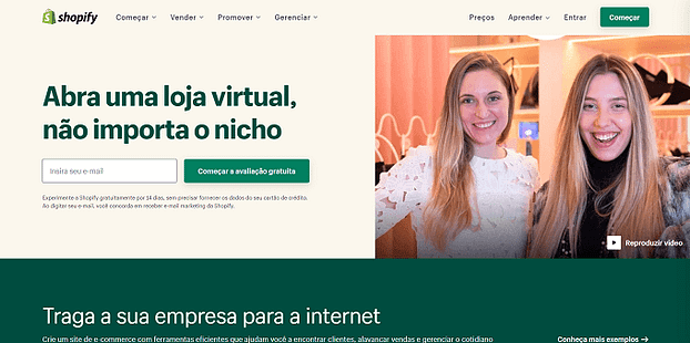 site da shopify
