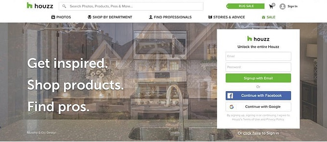 site da Houzz