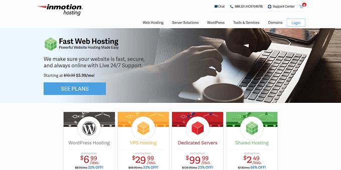 site do InMotion Hosting