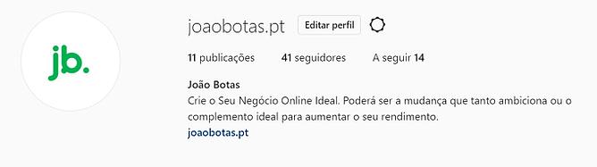 Instagram de joaobotas.pt