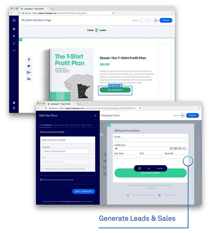 Posso usar landing page para fazer vendas