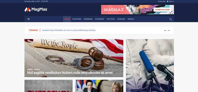 tema MagMax wordpress