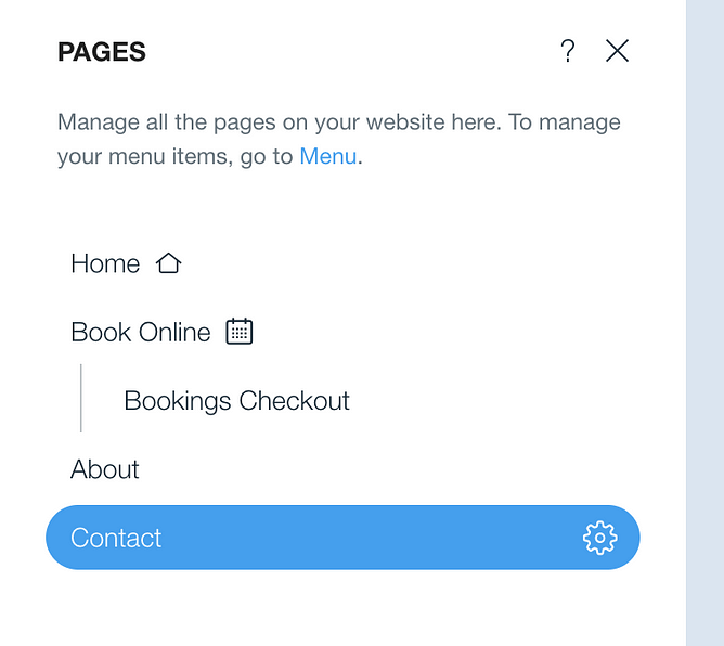 página de nicho no wix
