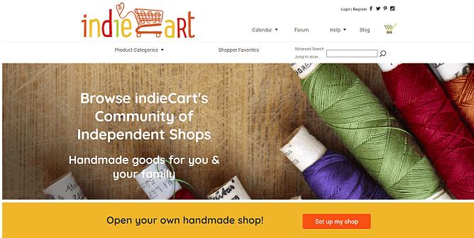 site da indieCart