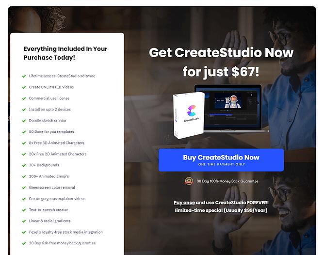 preço actualizado do createstudio