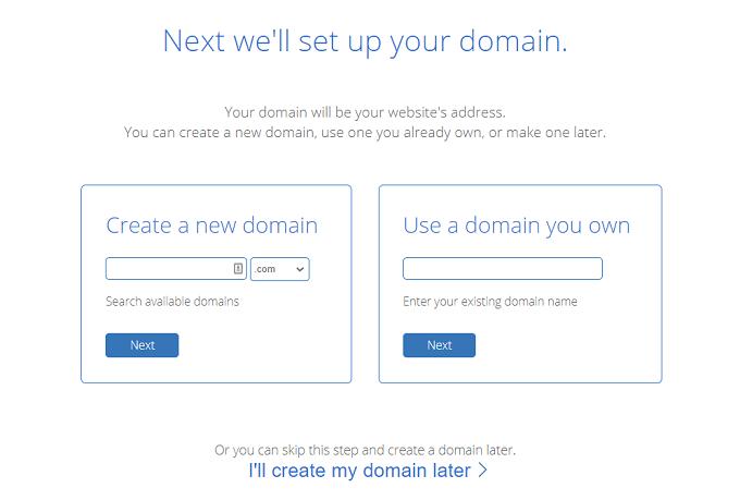 escolher nome dominio bluehost