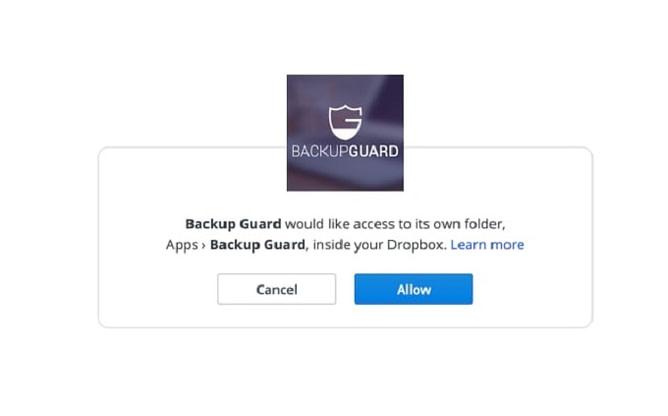 conexão do plugin backup guard