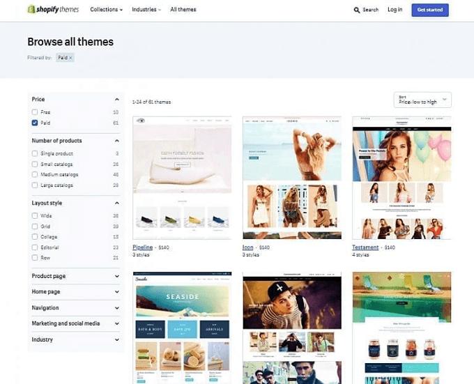 Temas e Web Design Shopify