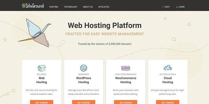 site do SiteGround