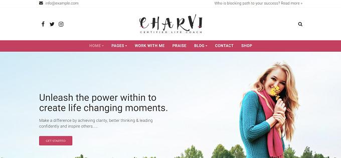 tema Charvi wordpress