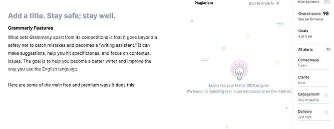 Verificador de plágio Grammarly