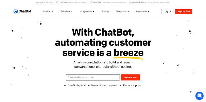 site da chatbot