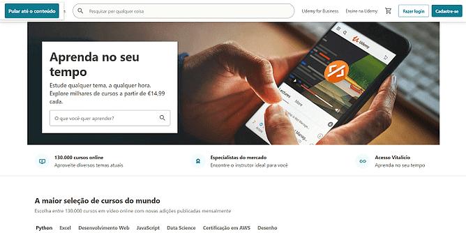 site da Udemy